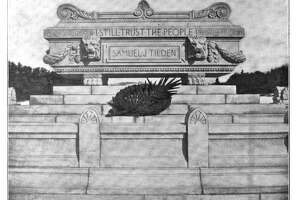 Tomb of the late Samuel J. Tilden in New Lebanon, New York. (Photo courtesy of the New York State Police)