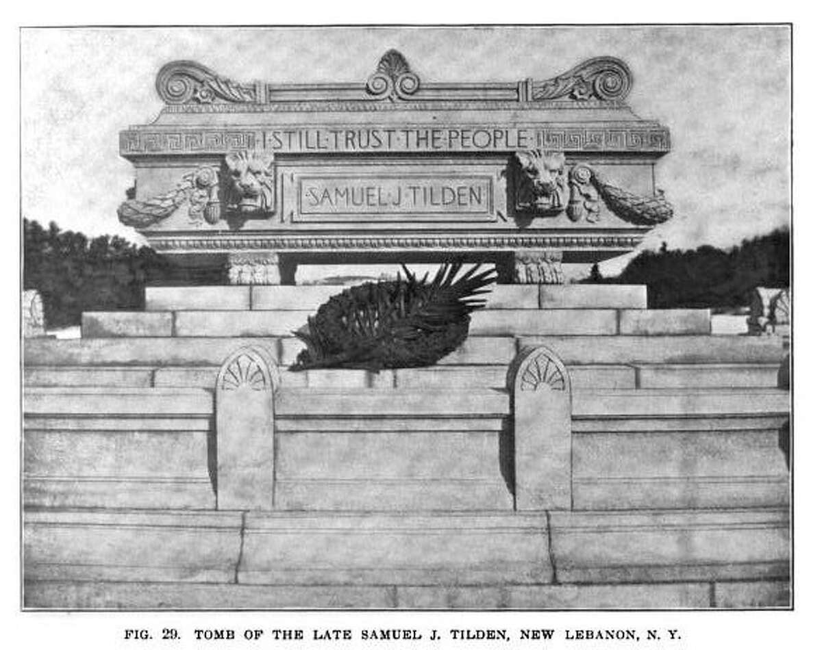 Tomb of the late Samuel J. Tilden in New Lebanon, New York. (Photo courtesy of the New York State Police)
