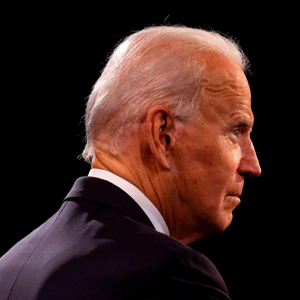 Former Vice President Joe Biden participates in the final presidential debate at Belmont University in Nashville.