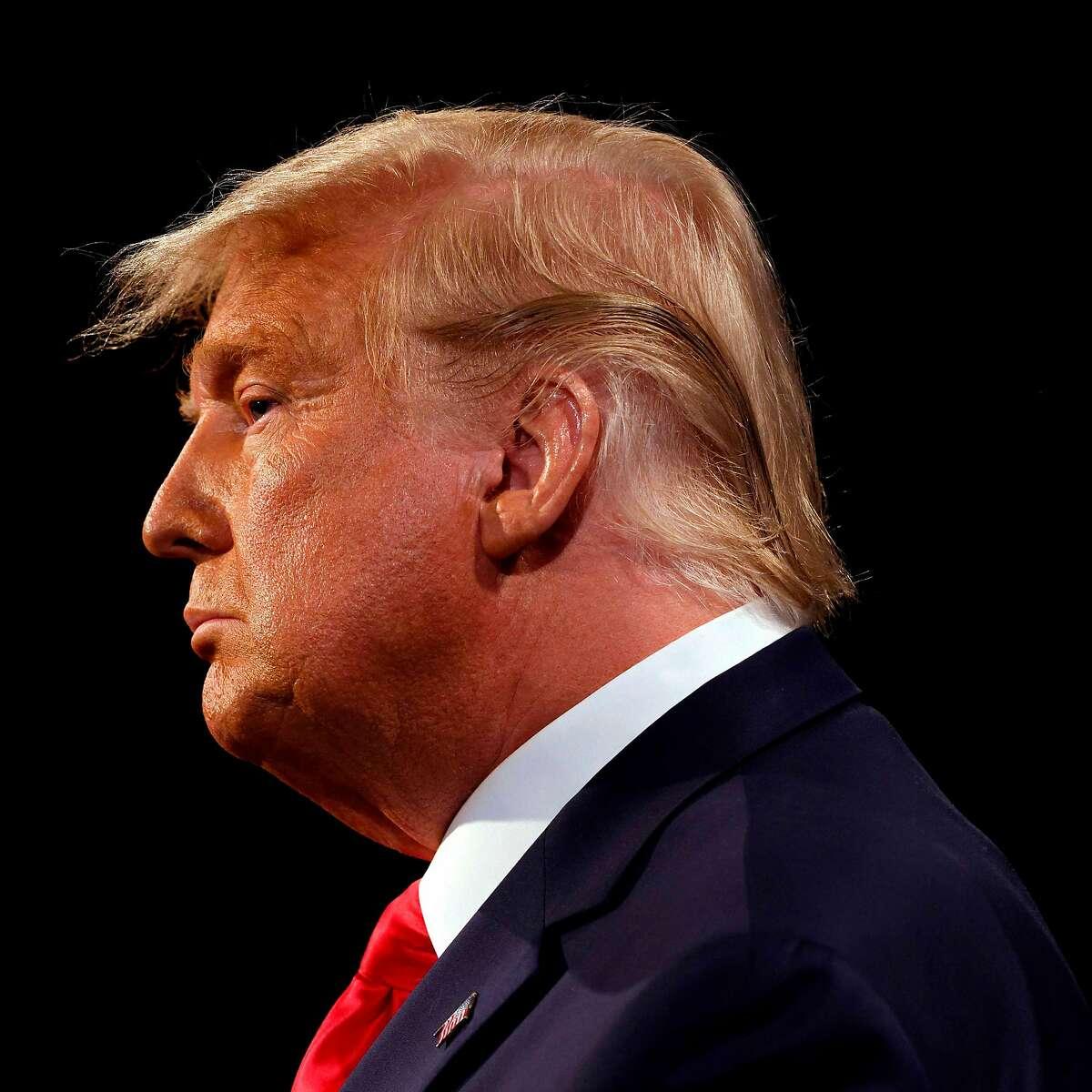 President Trump participates in the final presidential debate at Belmont University in Nashville.