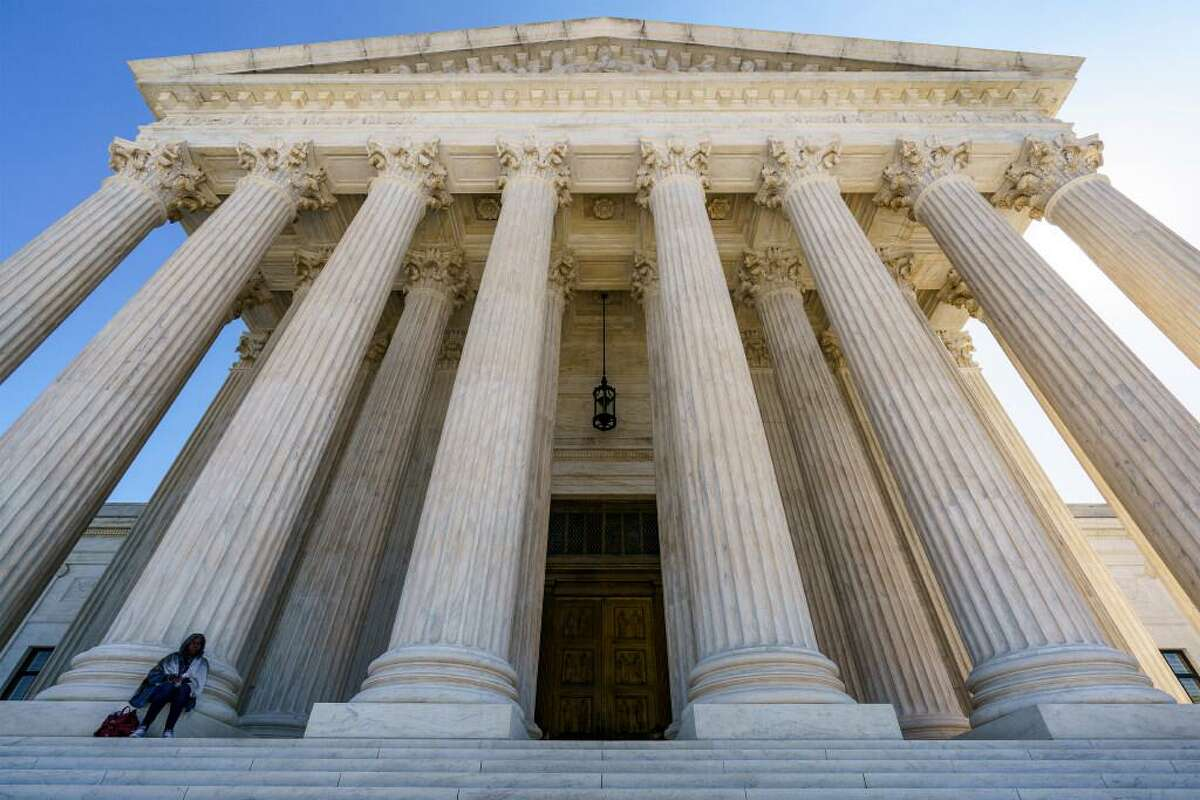 The Supreme Court is seen in Washington, Wednesday morning, Oct. 7, 2020. President Donald Trump's nominee to the high court, Judge Amy Coney Barrett, is scheduled to face the Senate Judiciary Committee next Monday, Oct. 12, 2020.