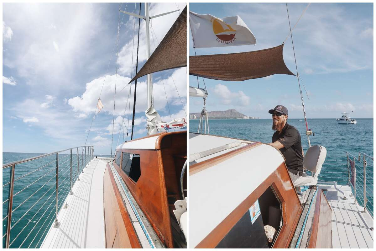 Without passengers, Peter Hanakahi and his crew on the Royal Hawaiian Catamaran spent most of their time in the two months following Hawaii's lockdown orders doing maintenance work.