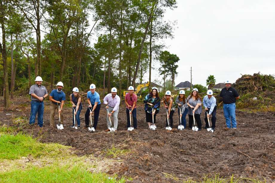 C.I.A. Services company executives recently joined O'Donnell/Snider Construction to mark the start of construction of its new offices at 18333 Timber Forest Drive in the Atascocita area. Photo: Aydee Rodriguez / O'Donnell/Snider Construction