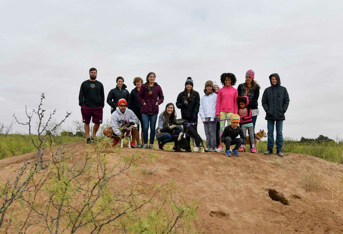 Grand Companions hosted a homeless pet hike Friday, Oct. 23, 2020 in partnership with Sibley Nature Center. Jacy Lewis/Reporter-Telegram