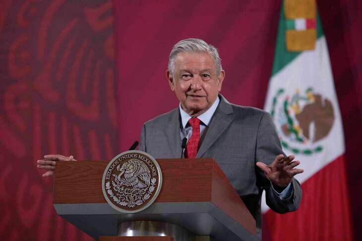 Mexican President Andres Manuel Lopez Obrador at a press conference in Mexico City on Thursday.