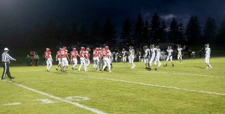 The Chippewa Hills Warriors earned their second win in-a-row with a 19-16 comeback against Tri County on Friday night. (Pioneer photo/Joe Judd)