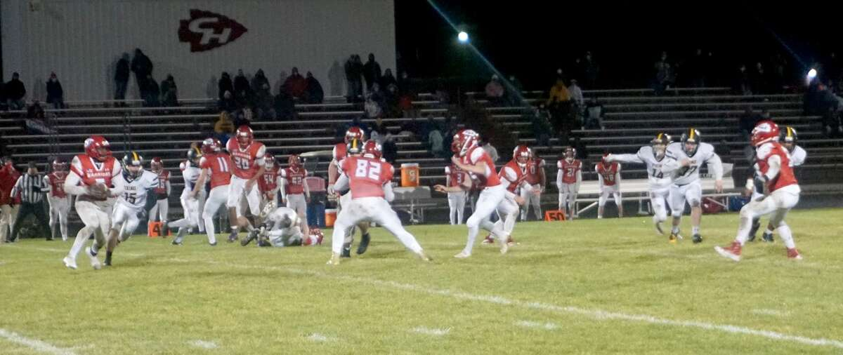 The Chippewa Hills football team ended its regular season with a 19-16 victory over Tri County on Friday night.