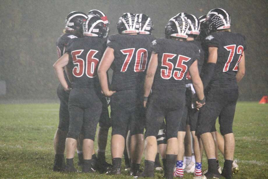 It wasn't easy, but Reed City's football team was able to end the regular season with a 36-20 win over Grant on Friday. It wasn't easy, but Reed City's football team was able to end the regular season with a 36-20 win over Grant on Friday. Photo: John Raffel
