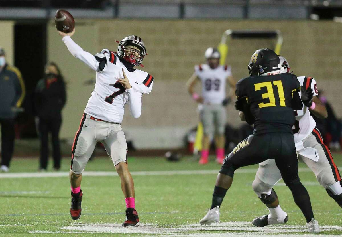 Quarterback K.K. Brashears helped rally Stevens from 14 points down in the fourth quarter to stun Harlingen last week. The Falcons play unbeaten Austin Westlake in the third round Saturday in Bastrop.