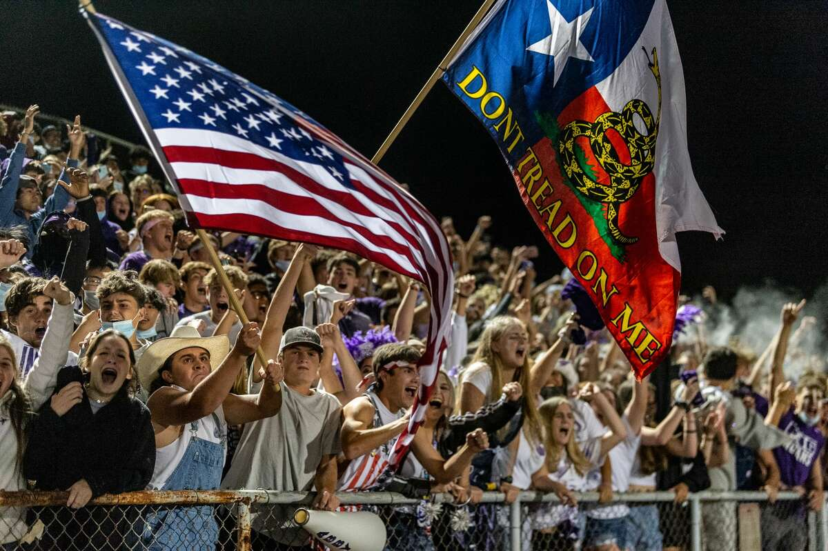 PN-G fans react to the last second win of the game. Fans are really into the rivalry between the Port Neches-Groves Indians and the Nederland Bulldogs. Photo made on October 23, 2020. Fran Ruchalski/The Enterprise
