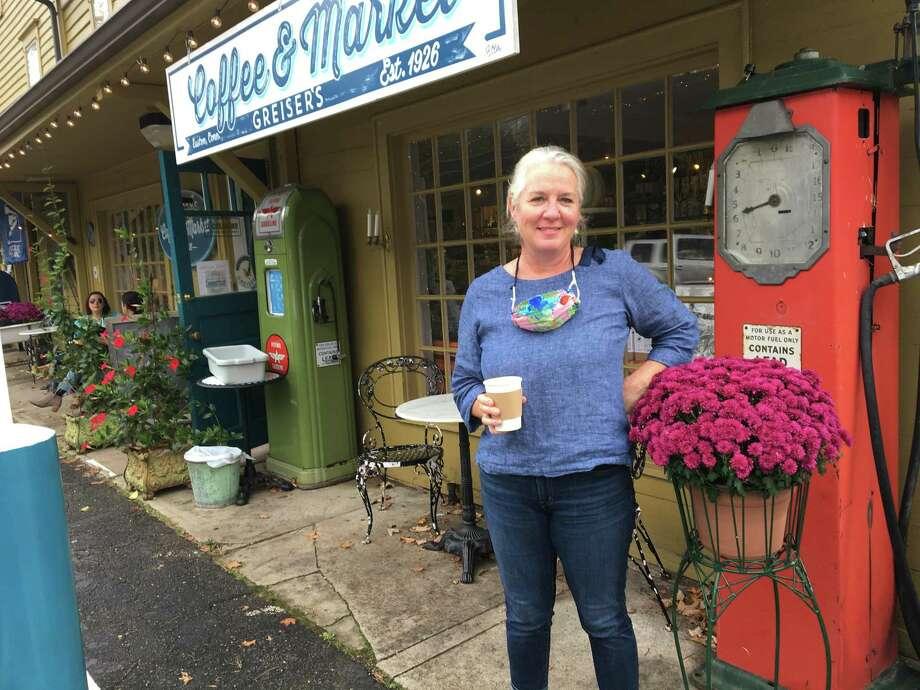 Adrienne Burke, owner of Greiser's Market in Easton. Photo: Ken Dixon /Hearst Connecticut Media