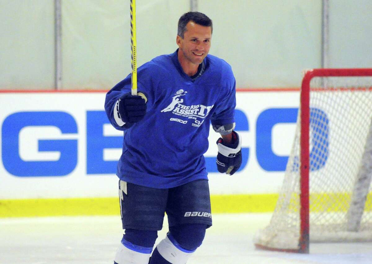 Martin St. Louis on the ice during the Big Assist IV ice hockey exhibition game to benefit the Obie Harrington-Howes Foundation at Terry Conners Ice Rink in Stamford, Conn., July 11, 2012. Out there... Hope for Haiti's