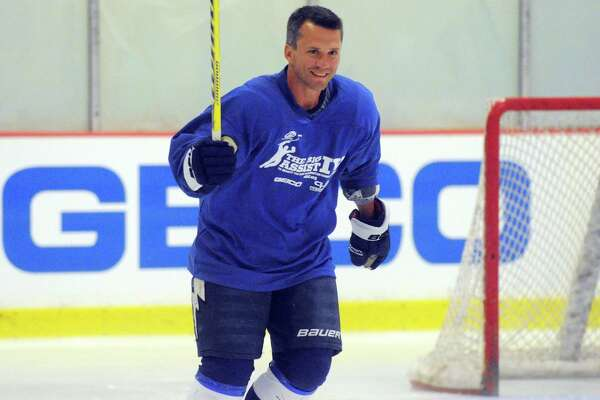 Martin St. Louis on the ice during the Big Assist IV ice hockey exhibition game to benefit the Obie Harrington-Howes Foundation at Terry Conners Ice Rink in Stamford, Conn., July 11, 2012.