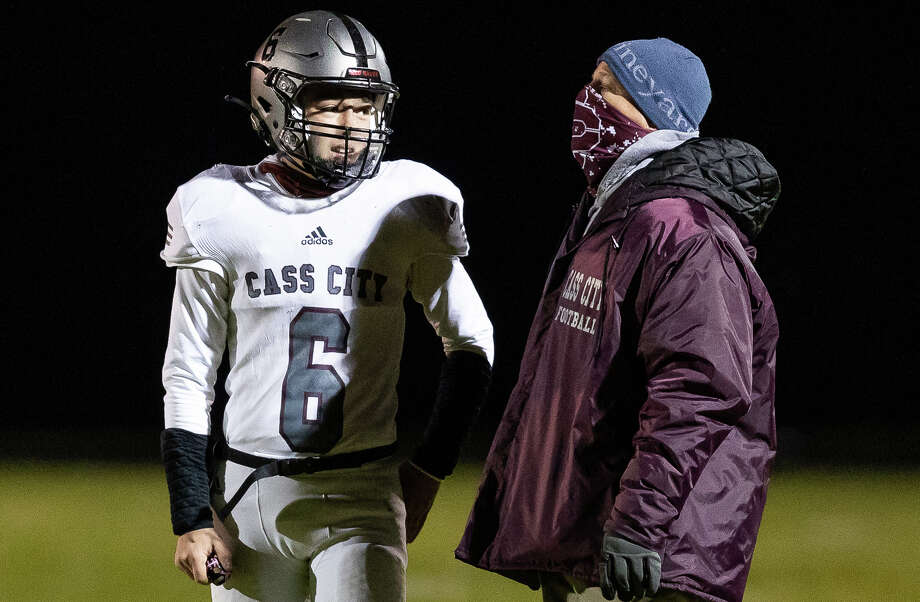 The Cass City varsity football team remain unbeaten heading into the playoffs after beating host Marlette, 50-0, on Friday night. / Quad N Productions