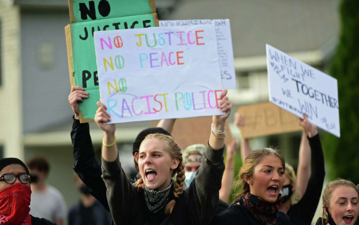 A protest this spring in support of the Black Lives Matter movement was one of the triggers for offering a course on social justice at Wilton High School. The Board of Education is considering approval of the course that would start in the fall.