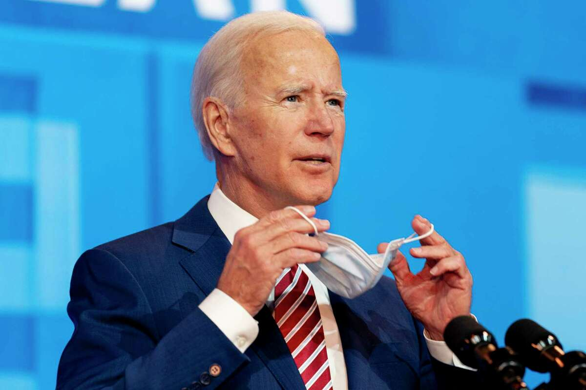 Democratic presidential candidate former Vice President Joe Biden speaks about coronavirus at The Queen theater in Wilmington, Del., Friday, Oct. 23, 2020.