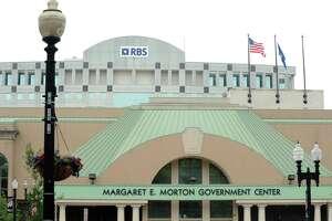 The Margartet E. Morton Government Center in Bridgeport, Conn. on Friday, Aug. 1, 2014.