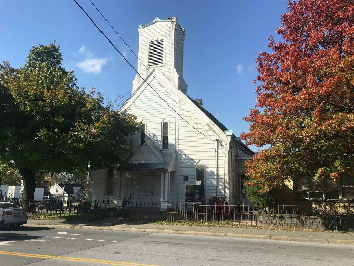 The former Oakwood Presbyterian Church at 313 Tenth St., Troy, N.Y.