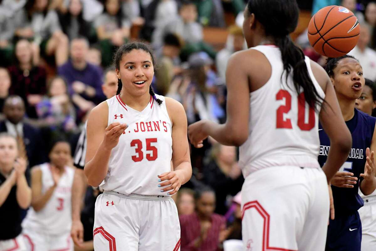 St. John's Azzi Fudd, the No. 1 ranked recruit in the class of 2021, committed to UConn on Wednesday.