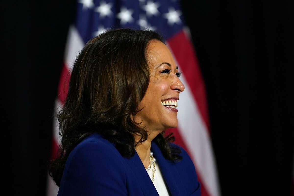 California Sen. Kamala Harris as she was introduced as Joe Biden's running mate in Wilmington, Del., on Aug. 12.