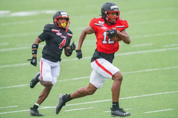The Lamar University football team held their Red and Black scrimmage game on Saturday afternoon to give their fans a glimpse of what the squad looks like this year. Photo made on October 24, 2020. Fran Ruchalski/The Enterprise