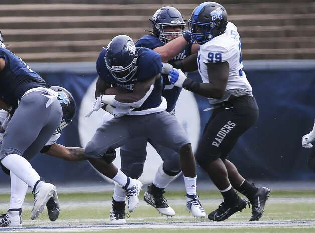 Action from the first quarter of a CUSA conference game against Middle Tennessee Saturday, Oct. 24, 2020, at Rice Stadium in Houston. Photo: Yi-Chin Lee/Staff Photographer / © 2020 Houston Chronicle