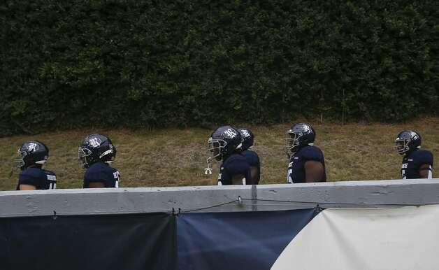 Rice Owls players walking down the ramp to take the field for a CUSA conference game against Middle Tennessee Saturday, Oct. 24, 2020, at Rice Stadium in Houston. Photo: Yi-Chin Lee/Staff Photographer / © 2020 Houston Chronicle