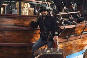 """Firato has become known as """"The Benevolent Pirate"""" because he allows groups to use Morgan's Cove for free"""