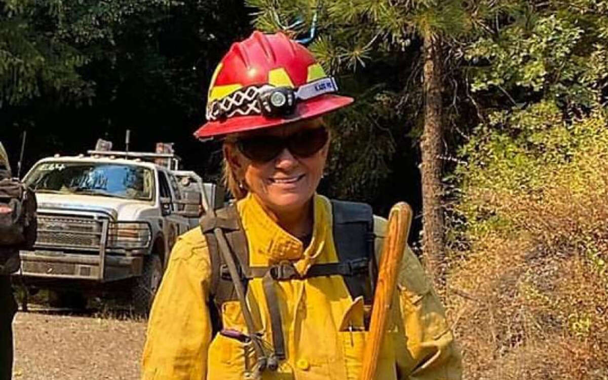 Diana Jones, a volunteer firefighter from Texas, died while fighting the August Complex Fire on Aug. 31.
