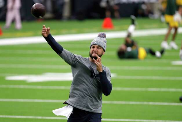 Houston Texans quarterback AJ McCarron warms up before an NFL football game against the Green Bay Packers at NRG Stadium on Sunday, Oct. 25, 2020, in Houston. Photo: Brett Coomer, Staff Photographer / © 2020 Houston Chronicle