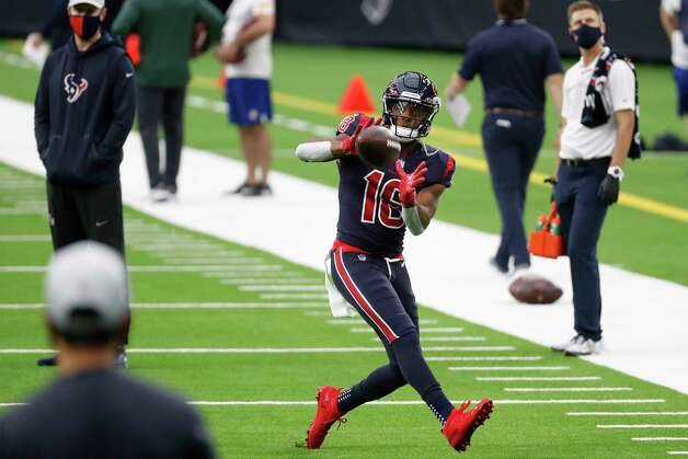 Houston Texans wide receiver Randall Cobb (18) reaches out to catch a football while warming up before an NFL football game against the Green Bay Packers at NRG Stadium on Sunday, Oct. 25, 2020, in Houston. Photo: Brett Coomer, Staff Photographer / © 2020 Houston Chronicle