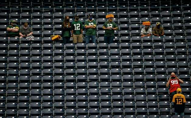 Fans wait for the start of an NFL game between the Houston Texans and the Green Bay Packers on Sunday, Oct. 25, 2020, at NRG Stadium in Houston. Photo: Jon Shapley, Staff Photographer / © 2020 Houston Chronicle