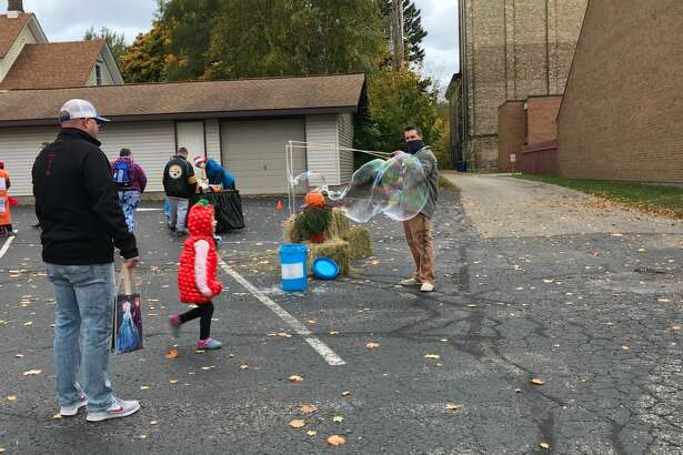 Families enjoyed crafts, food and music at the Manistee United Methodist Church Fall Block Party.