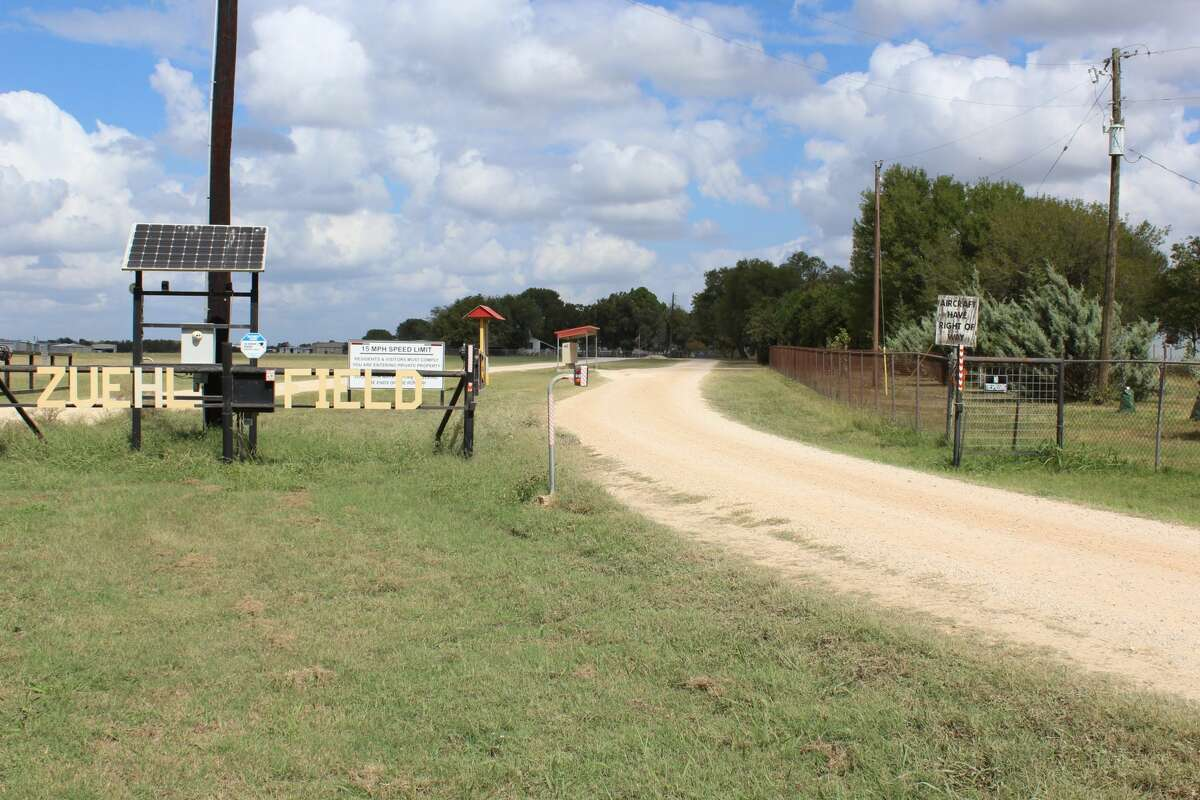 The Zuehl Airport Flying Community is about 23 miles east of downtown San Antonio in Marion, Texas.