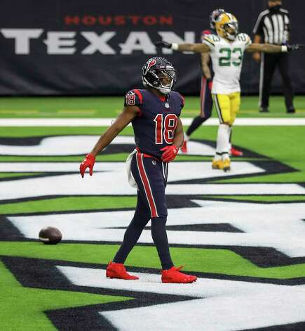 Houston Texans wide receiver Randall Cobb (18) reacts after missing a touchdown pass during the fourth quarter of an NFL game Sunday, Oct. 25, 2020, at NRG Stadium in Houston. Photo: Jon Shapley, Staff Photographer / © 2020 Houston Chronicle