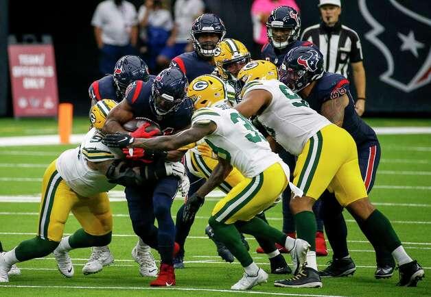 Houston Texans running back David Johnson (31) rushes during the fourth quarter of an NFL game Sunday, Oct. 25, 2020, at NRG Stadium in Houston. Photo: Jon Shapley, Staff Photographer / © 2020 Houston Chronicle