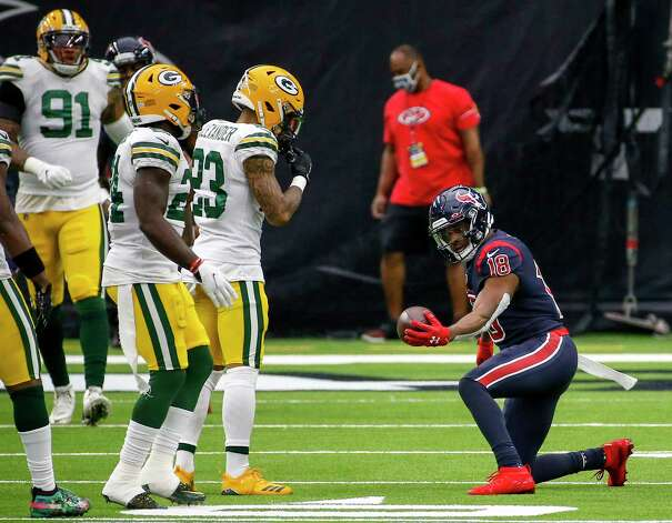 Houston Texans wide receiver Randall Cobb (18) celebrates during the second quarter of an NFL game Sunday, Oct. 25, 2020, at NRG Stadium in Houston. Photo: Jon Shapley, Staff Photographer / © 2020 Houston Chronicle