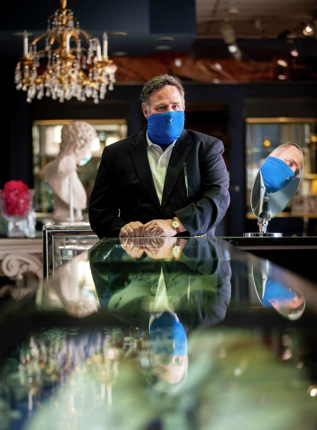 Rex Solomon, owner of Houston Jewelry, at the store Wednesday, Oct. 14, 2020, in Houston.