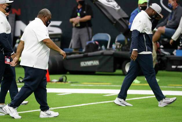 Houston Texans interim head coach Romeo Crennel walks off the field after the Texans 35-20 loss to the Green Bay Packers in an NFL football game at NRG Stadium on Sunday, Oct. 25, 2020, in Houston. Photo: Brett Coomer, Staff Photographer / © 2020 Houston Chronicle