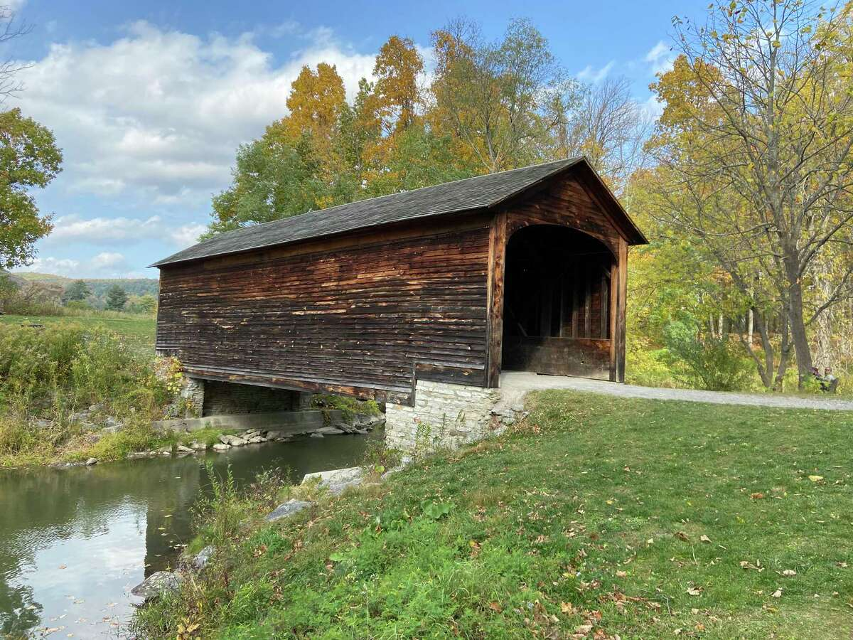 Built in 1825, this is the oldest wooden covered bridge in the United States. Located in Glimmerglass State Park in Cooperstown, NY.Steve Palko