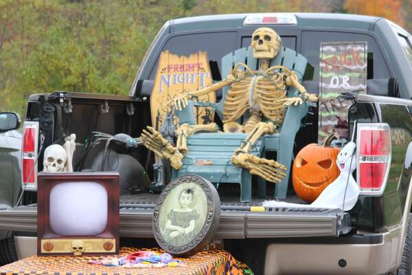 Some spooky decorations at the St. Andrews Trunk or Treat.