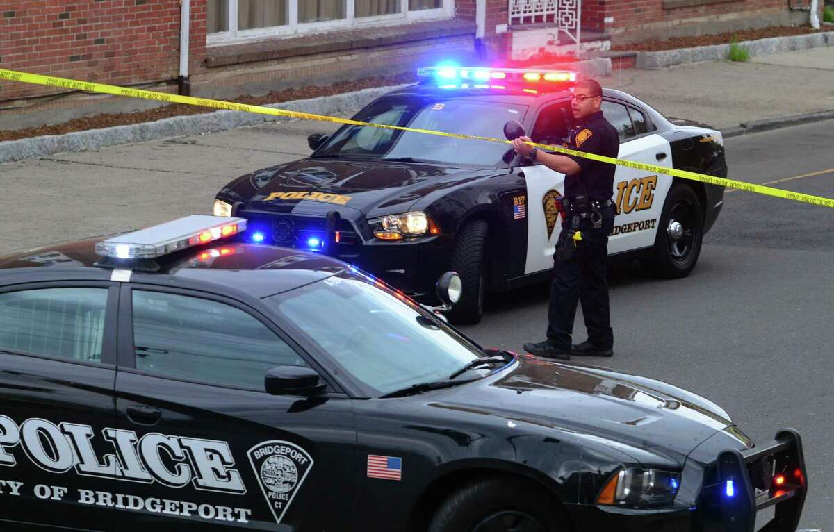 A file photo of Bridgeport police cruisers.