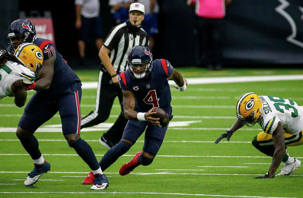 Given the Texans' struggles running the ball this season, QB Deshaun Watson may be forced to make plays with his legs to beat the Patriots on Sunday.