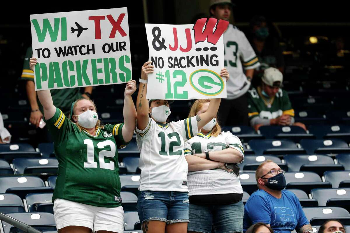 The home crowd didn't have much to cheer for Sunday at NRG Stadium but the Packers fans in attendance sure did.