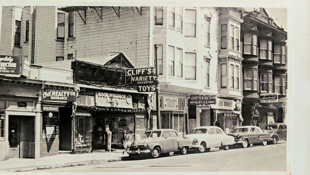 Cliff's Variety Store on Castro Street in the 1940s