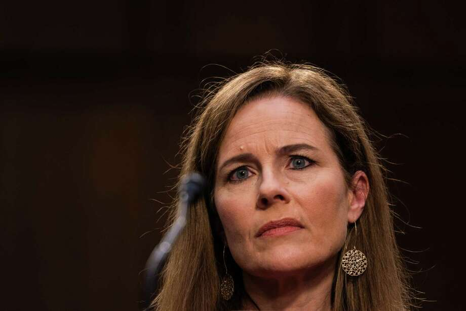 Supreme Court nominee Judge Amy Coney Barrett during day two of the Senate Judiciary Committee hearings on Capitol Hill on Oct. 13. Photo: Washington Post Photo By Demetrius Freeman / The Washington Post