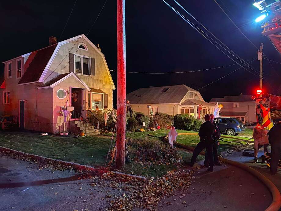 There was a kitchen fire at a Cambridge Avenue home in Milford, Conn., on Sunday, Oct. 25, 2020. Photo: Contributed Photo / Milford Fire Department