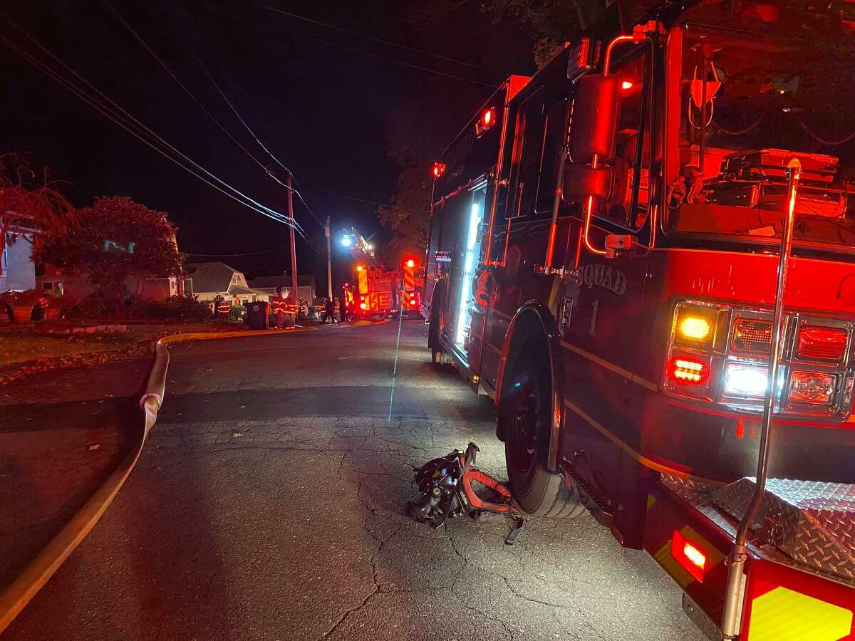 Crews on scene for a kitchen fire at a Cambridge Avenue home in Milford, Conn., on Sunday, Oct. 25, 2020.