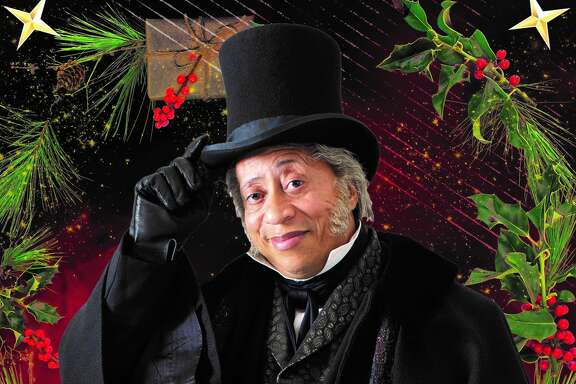 David Rainey as Scrooge in the Alley Theatre's A Christmas Carol.