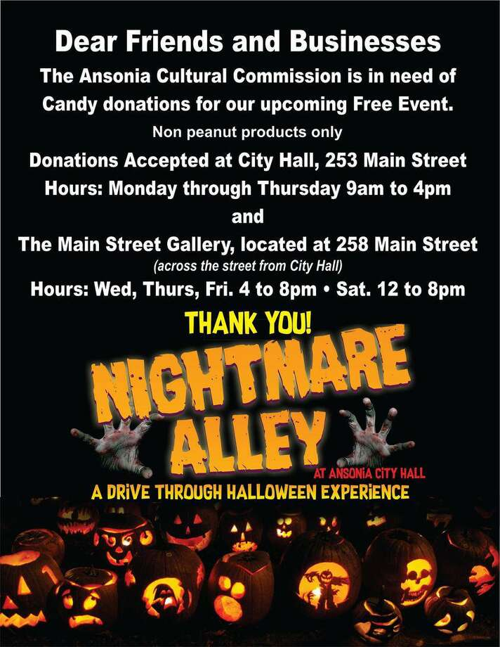 Ansonia will be holding a Nightmare Alley drive-thru Halloween event. Photo: Contributed